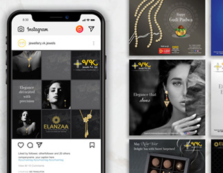 Social media branding for jeweller, digital marketing